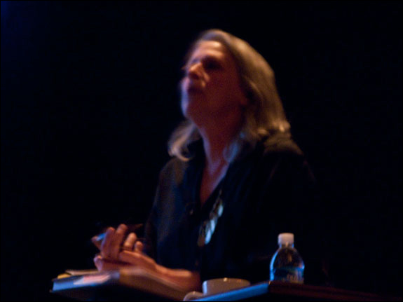 Sylvia Plachy, a featured artist at the LOOK3 Festival, shares her insights with audience members, and answers their questions. Courtesy, © Susan Katz 2009