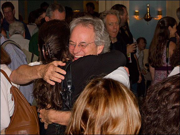 "A chance to reunite with old friends. Michael ""Nick"" Nichols pictured here. Courtesy, © Susan Katz 2009"