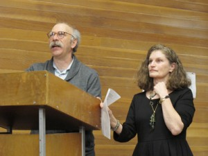 Ken and Melanie Light speak in Berkeley during a their UC Berkeley opening reception. They share stories and photographs from their book, Valley of Shadow and Dreams. Courtesy, ©Suzie Katz 2012