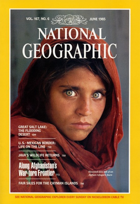 McCurrys Famous Photograph Afghan Girl On The Cover Of National Geographic