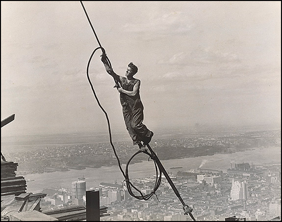 Lewis Hine (American, 1874–1940) Icarus, Empire State Building, 1930 Gelatin silver print, 18.7 x 23.7 cm (7 3/8 x 9 5/16 in.) The Metropolitan Museum of Art, Ford Motor Company Collection, Gift of Ford Motor Company and John C. Waddell, 1987 (1987.1100.119) Image © The Metropolitan Museum of Art, New York