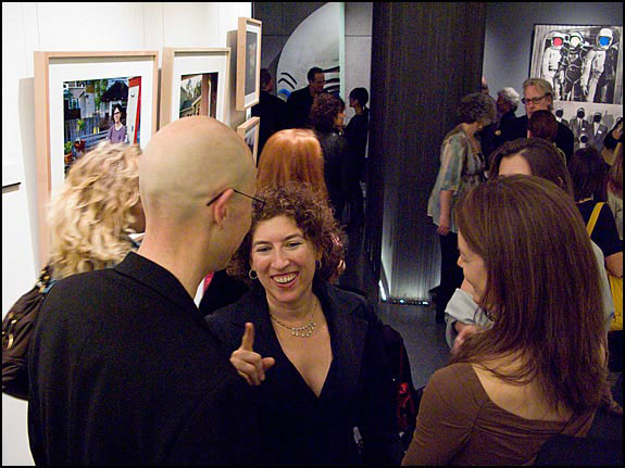 Photographer Lauren Greenfield at the inaugural exhibition and Grand Opening in 2009. Courtesy © Susan Katz, 2009