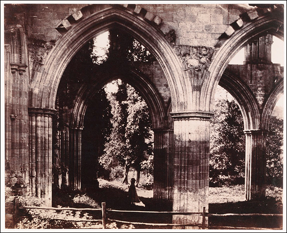 Roger Fenton (English, 1819–1869) [Rievaulx Abbey, the High Altar], 1854 Albumen silver print from glass negative, 29.5 x 36.7 cm (11 5/8 x 14 7/16 in.) The Metropolitan Museum of Art, Gilman Collection, Purchase, William T. Hillman Foundation Gift, 2005 (2005.100.275) Image © The Metropolitan Museum of Art, New York