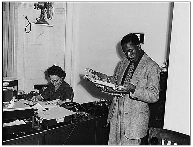 Gordon Parks, FSA/OWI (Farm Securities Administration/Office of War Information) photographer circa 1943. Library of Congress Prints and Photographs Division, unknown photographer